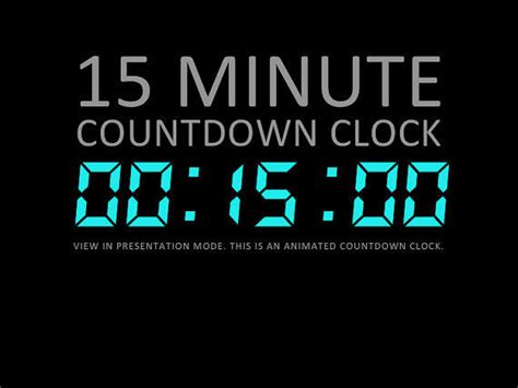 15 minute digital countdown clock from deckologie on etsy