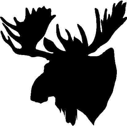 Nursery Animal Heads by Pics For Gt Black And White Moose Head Stencils And Art