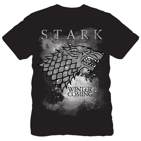 Of Thrones Tshirt iconic of thrones winter is coming stark t shirt