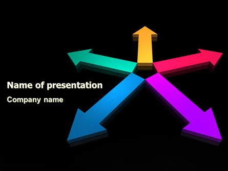 Tendency Direction Free Powerpoint Template Backgrounds Free Purple Direction Powerpoint