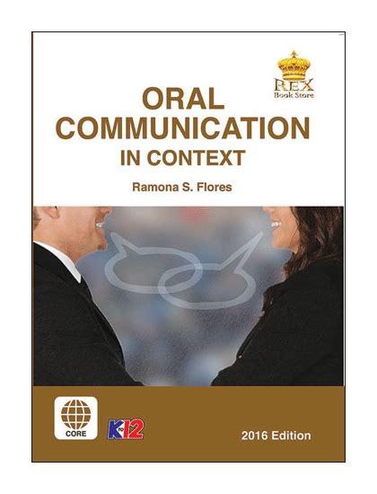 oral communication  context senior high school book rex book store