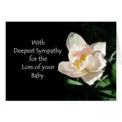 tulip sympathy card loss of a baby zazzle