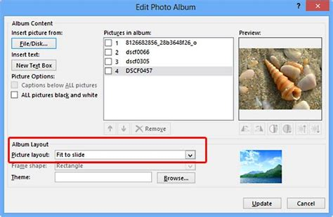 layout for powerpoint 2013 photo album picture layouts in powerpoint 2013 windows