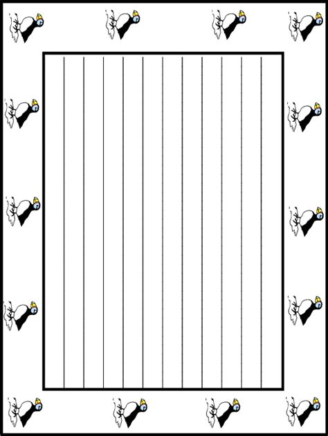 lined paper with music border music border writing paper