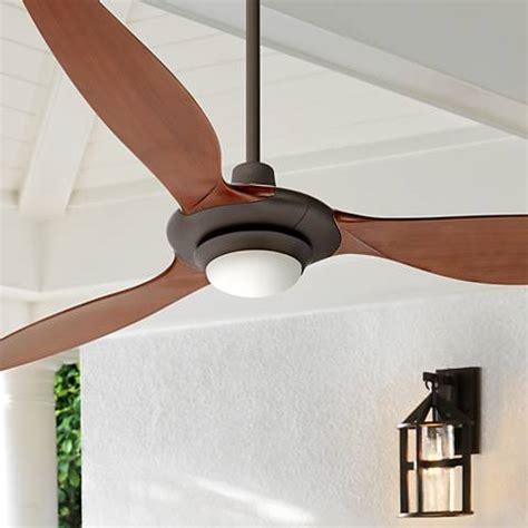 60 quot triaire rubbed bronze led ceiling fan 1w473