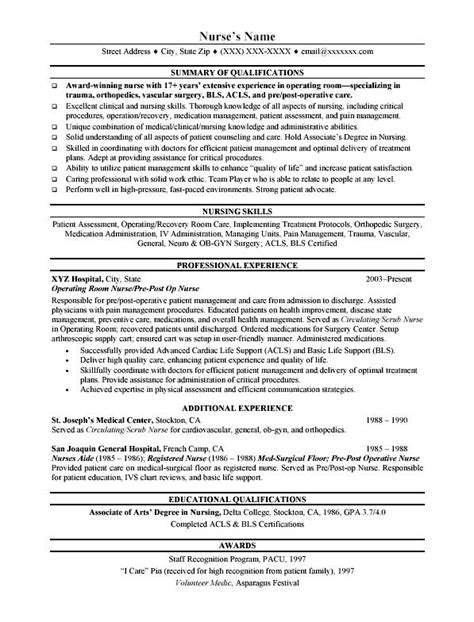 Sle Resume For Nurses With Hospital Experience Ap Nursing Resume Sales Nursing Lewesmr