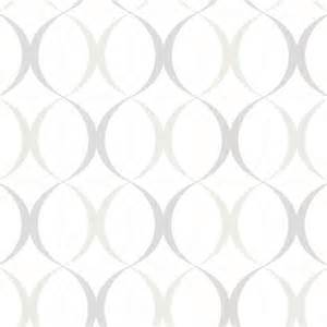 White Trellis Panels Circulate White Retro Orb Wallpaper Bolt Contemporary