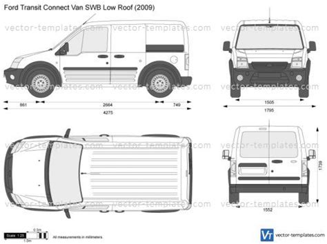 Templates Cars Ford Ford Transit Connect Van Swb Low Roof Ford Transit Vector Template