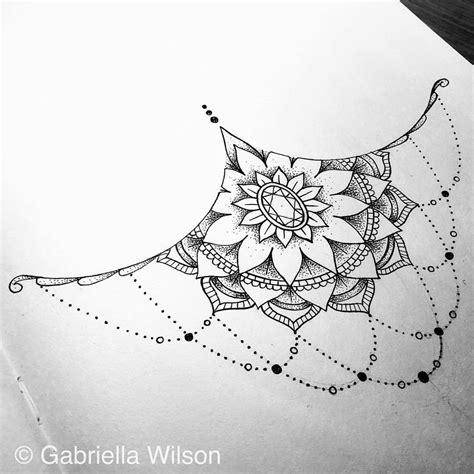 sternum tattoo mandala tumblr art designs and sketches by gabriella wilson sternum