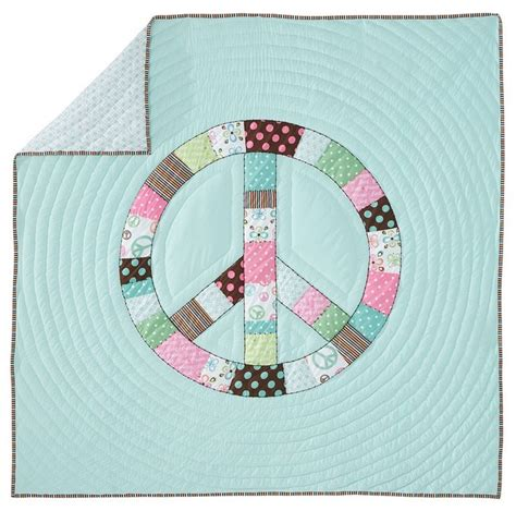 Patchwork Quilts For Children - peace patchwork quilt sham eclectic bedding