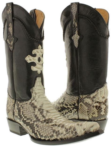 skin cowboy boots for s python back skin cowboy boots pointed toe