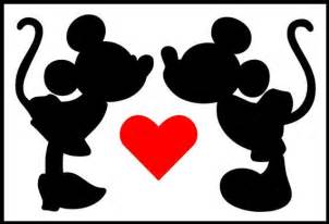 mickey and minnie mouse silhouette   cliparts co