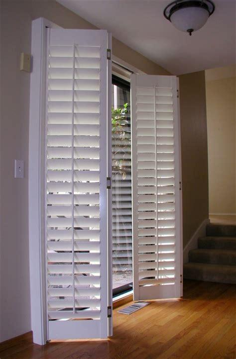 plantation shutters for sliding door accordion