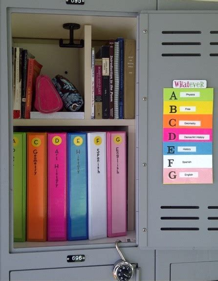 organise and organize 12 cute and easy diy ways to organize your school locker