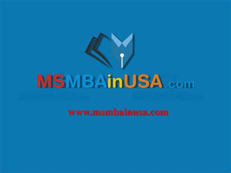 Higher Education In Usa After Mba by Ms Mba In Usa Higher Education In Abroad