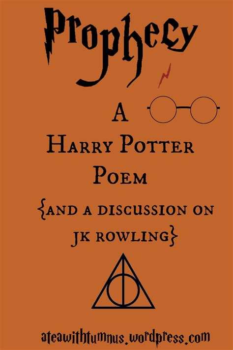harry potter poem prophecy a harry potter poem and a discussion on j k