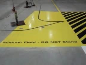 industrial automotive epoxy flooring line striping