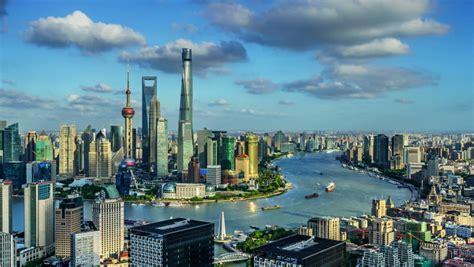 zoom  timelapse shanghai skylinechina stock footage