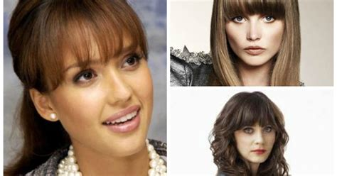 what faces can wear bangs bangs for women with oval face shapes things to wear