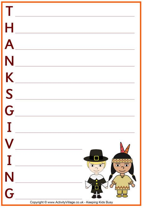 Thanksgiving Acrostic Template by Thanksgiving Acrostic Poem Template