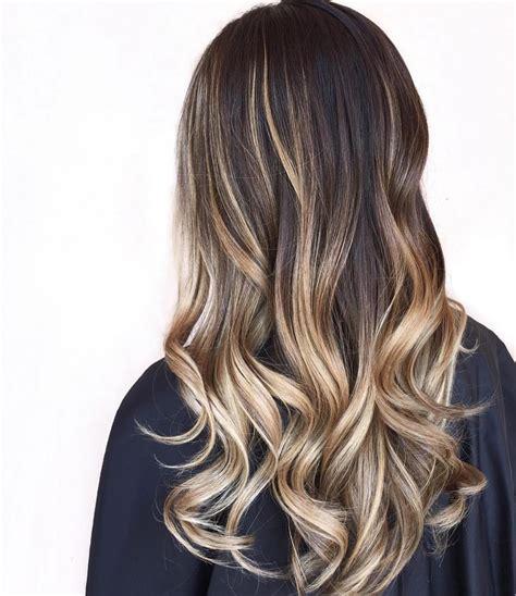 balalaye highlights 30 brown colored hairstyles with blonde balayage 2018