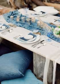 Nautical Theme Wedding Favors - blue wedding table setting ideas
