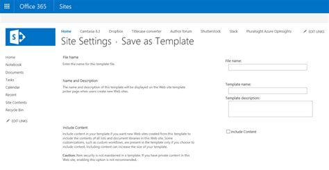sharepoint save as template a tip for copying a site in sharepoint