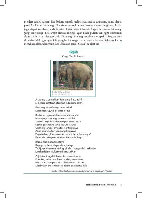 Buku Pembelajaran Moral Dari Sifat Binatang buku pegangan siswa bahasa indonesia smp kelas 8 kurikulum 2013