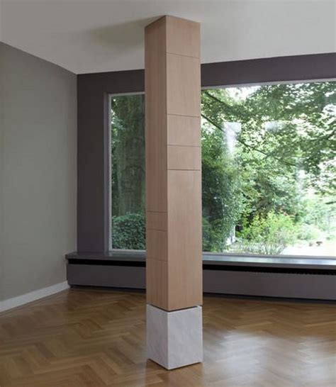 Home Decorating Tips by How To Hide Extra Storage In Fake Support Columns