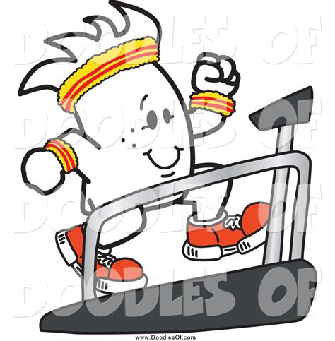 doodlebug clipart vector clipart of a doodle running on a treadmill by