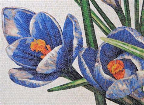 mosaico fiori metti un crocus nel mosaico la sta