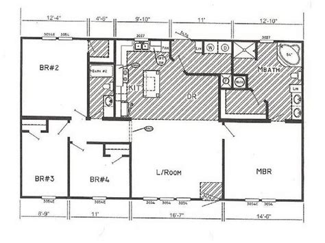 small wide mobile home floor plans design ideas