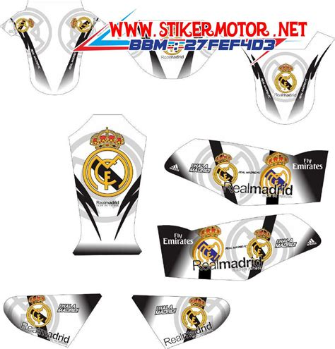 Striping Wave S 100 Supra X Fit New striping motor rx king real madrid stikermotor net