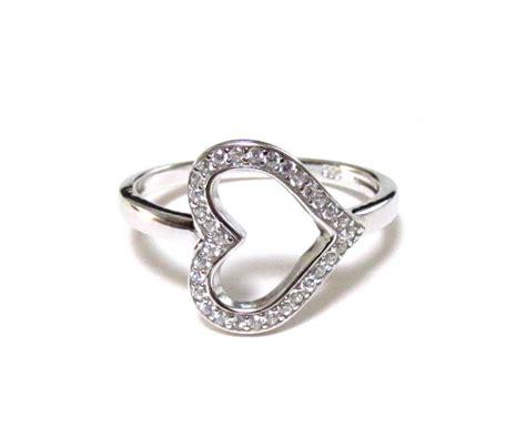 925 Sterling Silver Cz Ring sideways ring rhodium 925 sterling silver ring