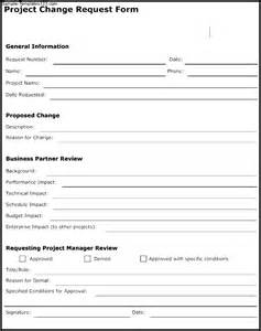 project management form templates project change request form template sle templates