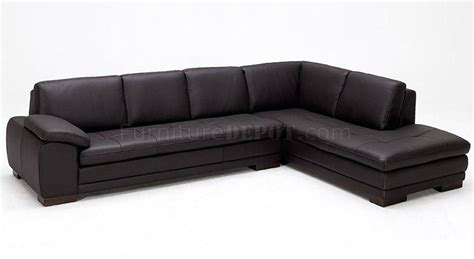 chocolate brown sectional sofa 625 sectional sofa in chocolate brown italian leather by j m