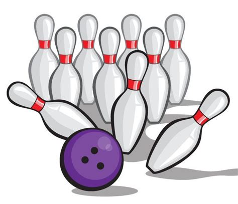 clipart bowling bowling vector crashing into pins pow clip arts