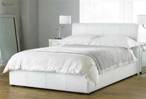 White Padded Bed Frame White Ottoman Beds Henley White Leather Ottoman Storage Bed Ottoman Only Ebay Henley White