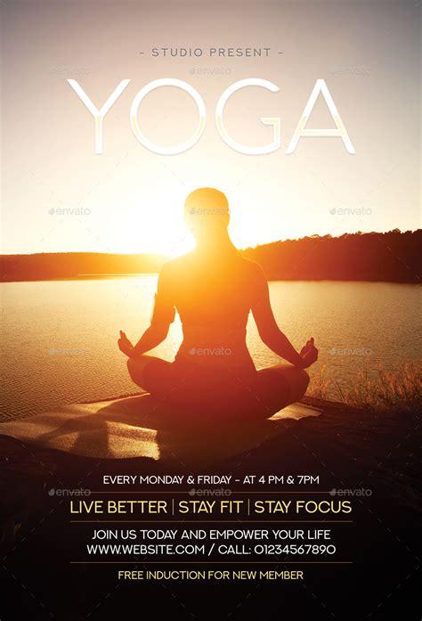 yoga flyer  sunilpatilin graphicriver