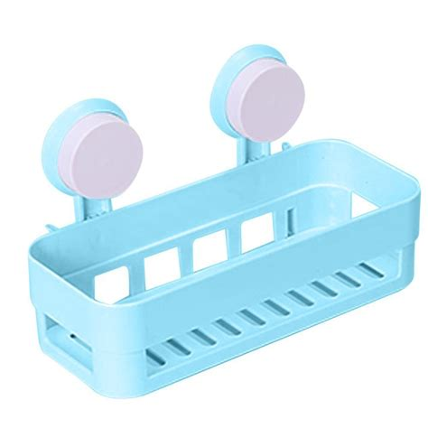 suction cup shelf bathroom kitchen bathroom shelf plastic shower caddy organizer tray