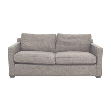 two cushion sofa 64 off crate barrel crate barrel davis grey two