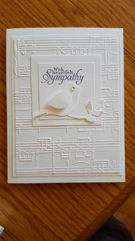 Handmade Sheet Cards - handmade sympathy card white on white embossing