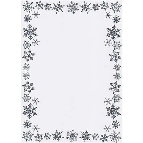snowflake writing paper printable border writing paper a5 snowflake