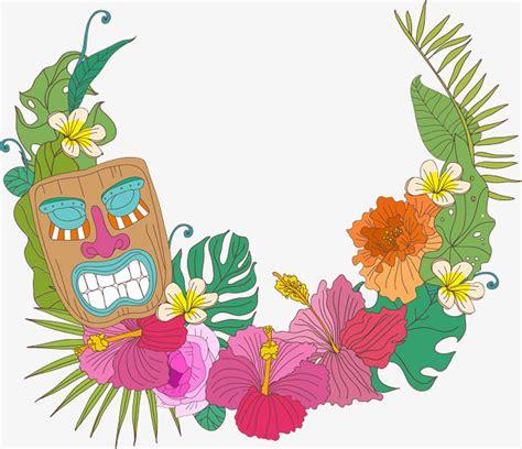 imagenes flores hawaianas flores hawaianas marco decorativo vector png flores de