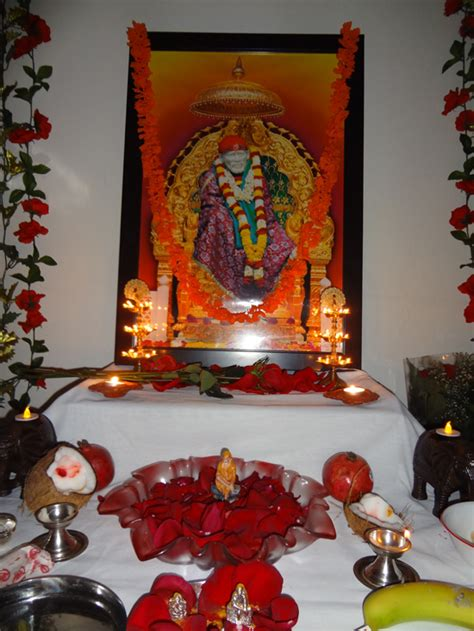 decoration for puja at home sai bhajan and puja at my home theweavingideas