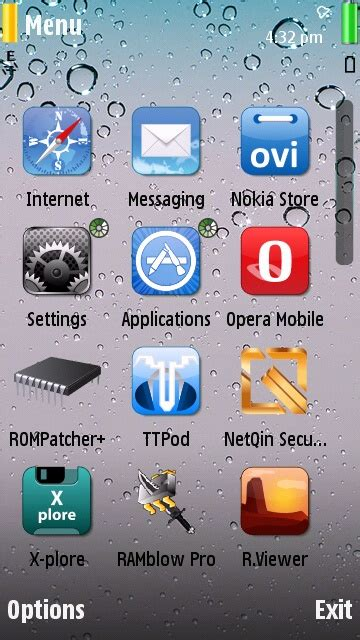 iphone themes for nokia e7 iphone drops ios theme for s60v5 nokia 5800 5233 5230