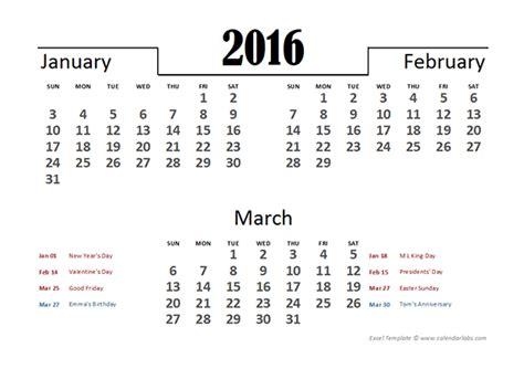 Calendar Quarter Excel 2016 Excel Quarterly Calendar Template Free Printable