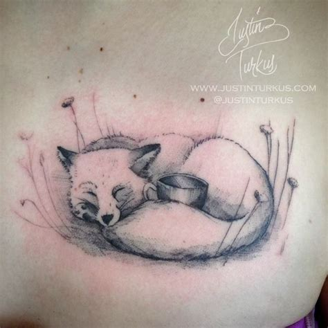 single needle tattoo vancouver single needle fox cup tattoo by justin turkus justin