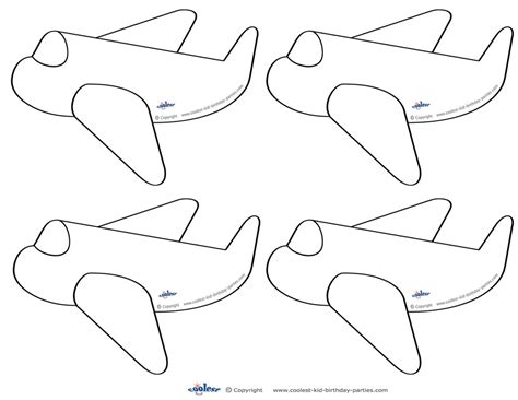 airplane cut out template image collections templates