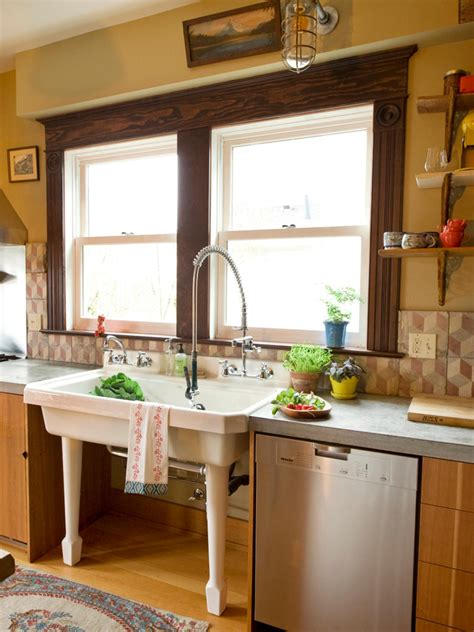 Industrial Style Kitchen Island by A Century Old Kitchen Comes To Life Hgtv